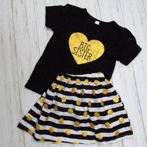 Girls' Big Sister Skirt and Top Set 6-8